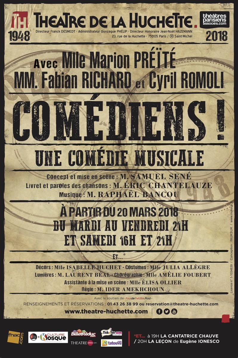 « Comédiens ! » au Théâtre de LaHuchette