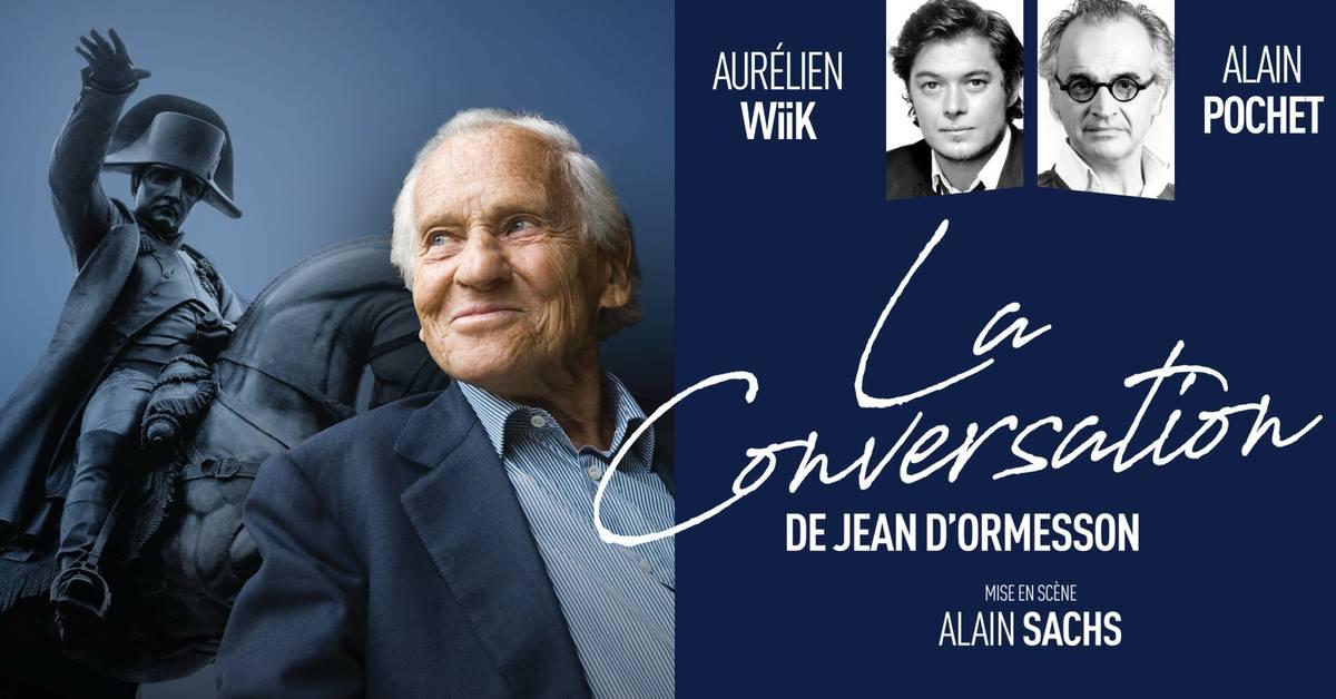 LA CONVERSATION de Jean D'ORMESSON au théâtre du gymnaseMarie-Bell